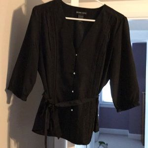 Black blouse with tie